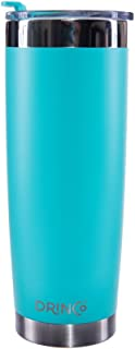 Drinco - Stainless Steel Tumbler   Double Walled Vacuum Insulated Mug With Spill Proof Lid For Hot & Cold Drinks   Aqua   Perfect for Hiking, Camping & Traveling   BPA Free   20oz