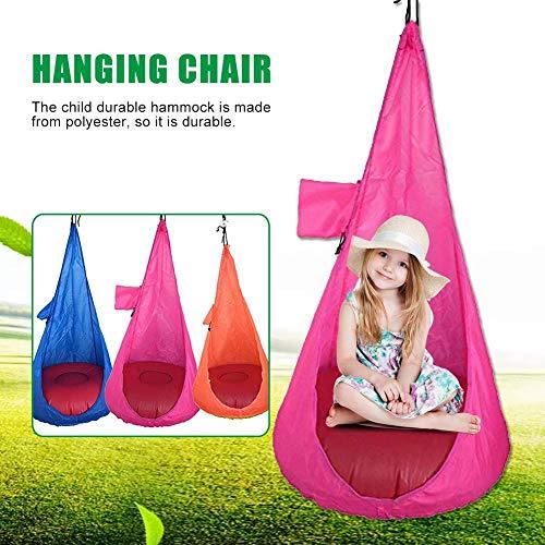 learnarmy Hängesessel für Kinder, Hängesessel mit Tasche, Hängematte Cocoon, für drinnen und draußen Spaß, einfach aufzuhängen, bequemes Nest, Mädchen und Jungen, Damen, rosarot
