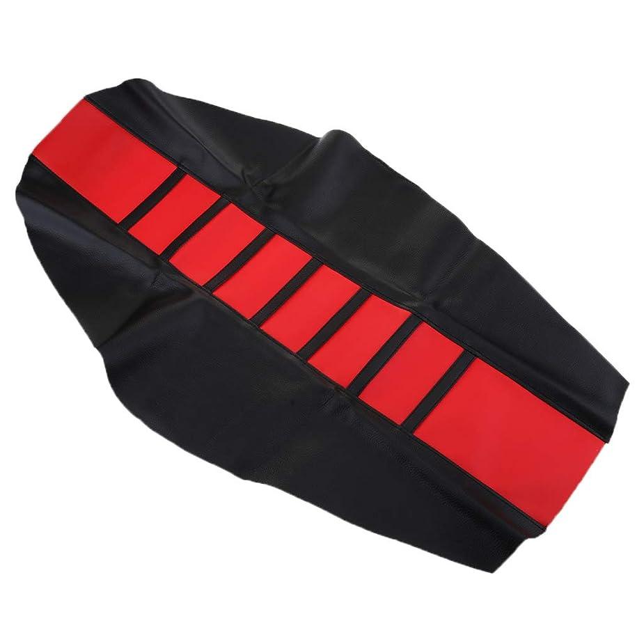 メンテナンス振りかける主婦D DOLITY ブラックストライプのダートバイクエンデューロ用オートバイコンフォートグリッパーソフトシートカバー - 赤