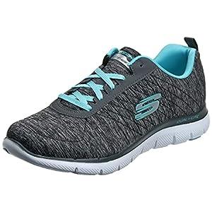 Skechers Women's Flex Appeal 2.0 Sneaker,black light blue,9.5 W US