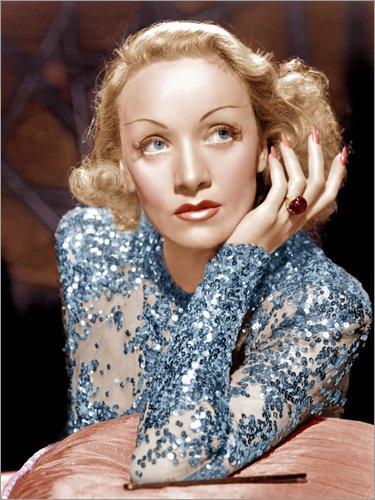 Posterlounge Acrylglasbild 60 x 80 cm: Marlene Dietrich in Engel von Everett Collection - Wandbild,...