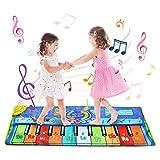 BelleStyle Tappeto Musicale, 130*48 cm Grande Tappeto Musicale per Bambini, Pianoforte Stu...