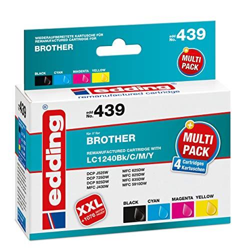 Edding EDD-439 Remanufactured Tintenpatronen Pack of 4, black, cyan, magenta, yellow