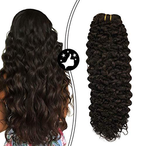 Moresoo Extensions Echthaar Clips Dunkelbraun/2# Clip in Echthaar Extensions Natur Wave 100% Brasilianischen Human Hair 18 Zoll 7 pcs 100g