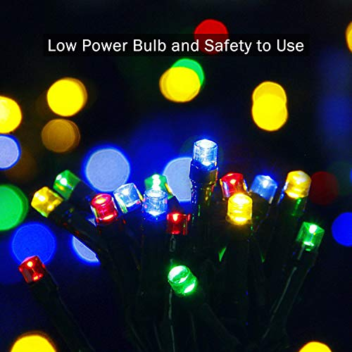 JMEXSUSS 2 Pack Solar String Light 200LED 75.5ft 8 Modes Solar Christmas Lights Waterproof for Gardens, Wedding, Party, Christmas Tree,Halloween,Homes,Xmas,Gifts,Outdoors (200LED-Multicolor-2Pack)