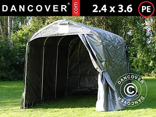 Dancover Lagerzelt Zeltgarage PRO Lagehalle 2,4x3,6x2,34m PE, Grau