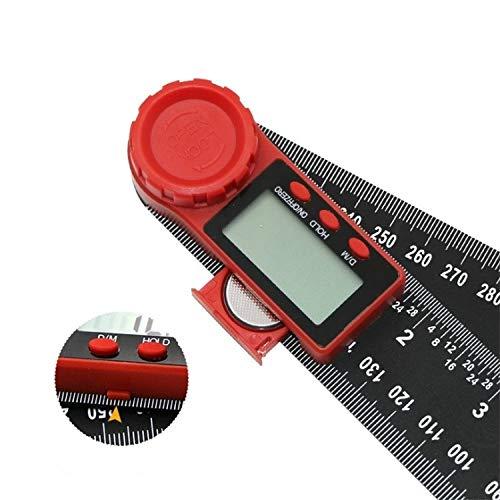 Multifunción Transportador de Dos-en-uno de ángulo Digital (200 mm) (Color : 200mm)
