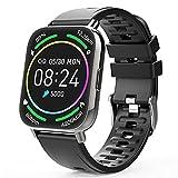 Judneer Smartwatch Hombre, 1.69'' Reloj Inteligente IP67 Impermeable, Pulsera Pantalla Táctil Completa con Monitor de Sueño Contador de Caloría Pulsómetros Podómetro para Smart Watch Android y iOS