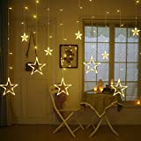 Quace Plastic 138 LED Curtain String Lights with 8 Flashing Modes Decoration