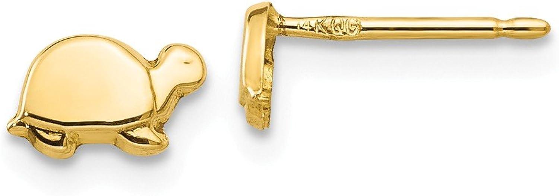 Beautiful Yellow gold 14K Yellowgold 14k Mini Turtle Earrings