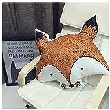 Kinder Erwachsener Cartoon Tier Kissen Zierkissen für Sofa Matte Teppich (Fuchs)