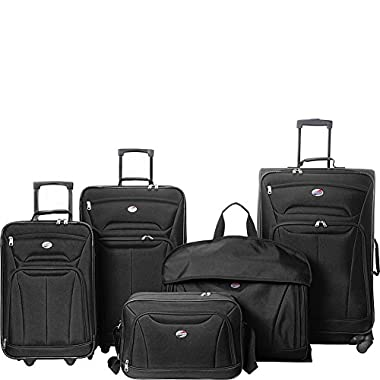 American Tourister Wakefield 5 Piece Luggage Set - eBags Exclusive (Black)
