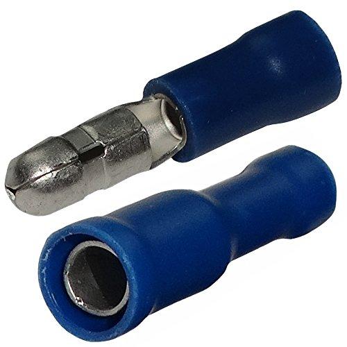 Aerzetix: 200 x Cosses Electriques - Cylindriques - Bleues - Mâles-Femelles - Serrage - Isolées - Ø4mm - 1.5-2.5mm² - C11527C11528