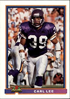 1991 Bowman #310 Carl Lee NFL Football Trading Card