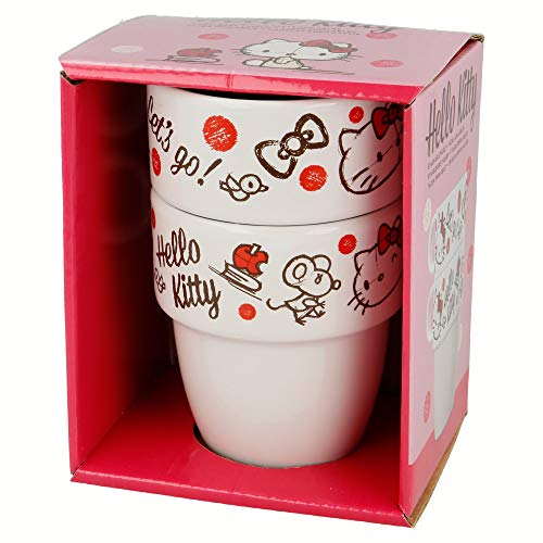 Tasses empilables Stoneware 8 oz 2 Pcs hello Kitty Young Adult