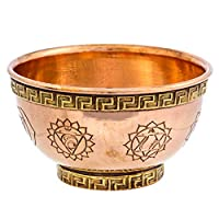 Alternative Imagination 7 Chakras Copper Offering Bowl for Altar Use, Rituals, Incense, Smudging, Decoration, and More