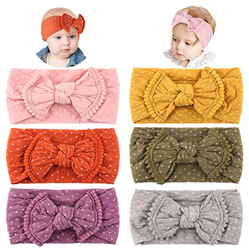 Makone Vendas del bebé, súper elásticas Suaves Nudo de bebé Turbante, Multicolor Hairband de los bebés recién Nacidos, Toddle Pelo de los niños de los Aros (DT050)
