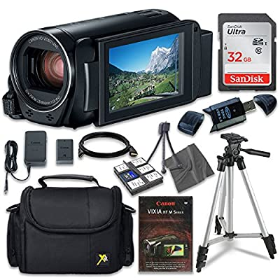 Canon VIXIA HF R80 Camcorder with Sandisk 32 GB SD Memory Card + Extra Accessory Bundle by Canon