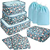 DIMJ 9 Set Packing Cubes, Travel Cubes Luggage Packing Organizers Accessories with Large
