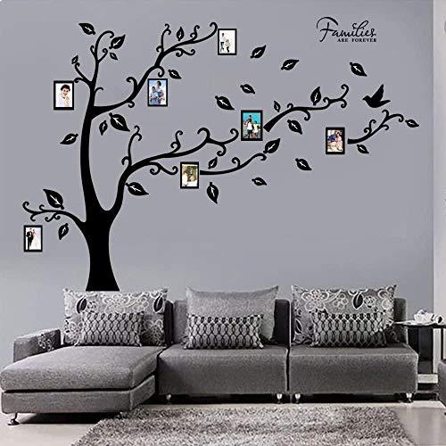 FFVVE Pegatinas de pared grandes para árbol genealógico removibles DIY marco de fotos decoración del hogar calcomanías de pared para sala de estar dormitorio