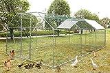 GreenWorld Chicken Coop Metal Cage 19.7 x 9.8 x 6.56ft Chicken Rabbit...