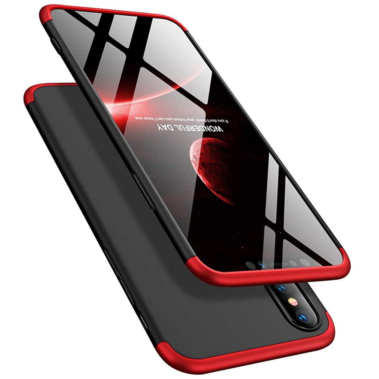 ATRAING iPhone Xs Max Case, Ultra-Thin PC Hard Case Cover with Tempered Glass Film Protector for Apple iPhone Xs Max