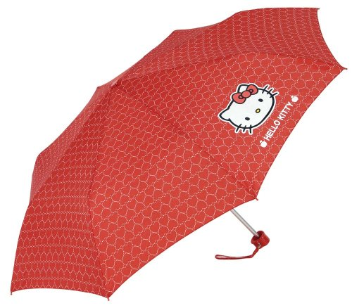 Clima–car15101–Natursport–Regenschirm Herzen–Hello Kitty–Mini