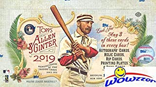 2019 Topps Allen & Ginter MLB Baseball MASSIVE Factory Sealed HOBBY Box with 192 Cards & (3) HITS! Look for Autos of Mike Trout, Harrison Ford, Pete Alonso, Derek Jeter, Post Malone & More! WOWZZER!