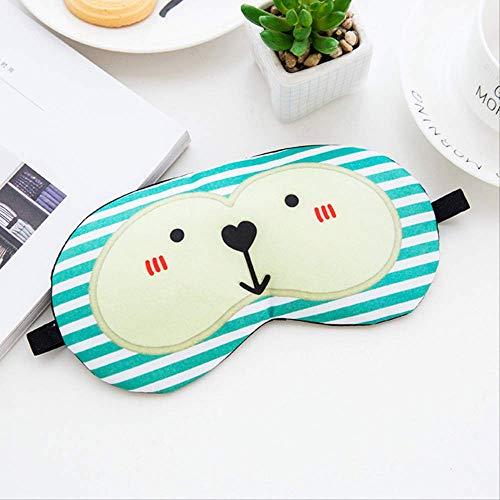 Creative Travel Ice Cream Ice Bag Masque Pour Les Yeux Cartoon Expression Personnalité Drôle Tissu Pour Couvrir Le Sommeil Des Yeux Fatigue Facilité C