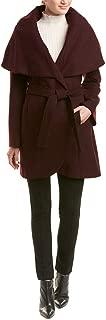 Marla Women's Oversized Collar Wool Blend Wrap Coat