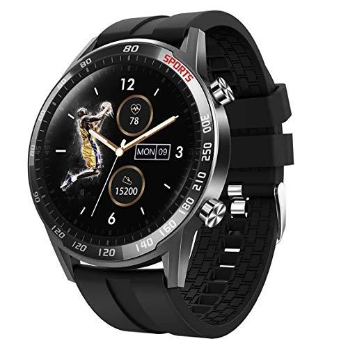 Smartwatch intelligente fitness tracker Bluetooth 5.0, bracciale sportivo con temperatura, contapassi, frequenza cardiaca, monitoraggio del sonno, per telefoni Android iOS