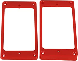 red guitar pickup covers