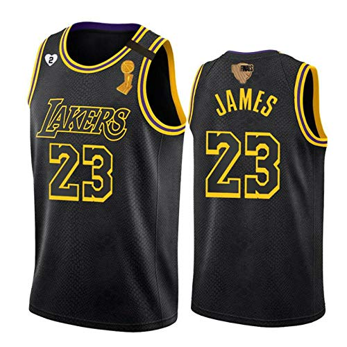 James Laker 2020 Champion Edition Basketball Jersey # 23, Final Men's Sleeveless Sweatshirt (S-XXL) Embroidered Mesh, Breathable and Quick-Drying XXL