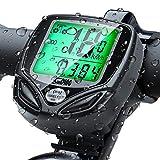 Vegena Cuentakilómetros para Bicicleta, Velocímetro para Bicicleta, Ciclismo con 16 Funciones, Velocímetro Impermeable Inalámbrico para Bicicleta con Pantalla LCD de Retroiluminación (Negro)