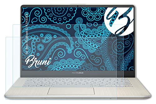 Bruni Schutzfolie kompatibel mit Asus VivoBook S14 S433EA Folie, glasklare Bildschirmschutzfolie (2X)