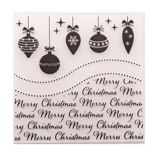 VAILANG Merry Christmas Plastic Embossing Folder Template Album Fotografico Fai da Te Album Fotografico