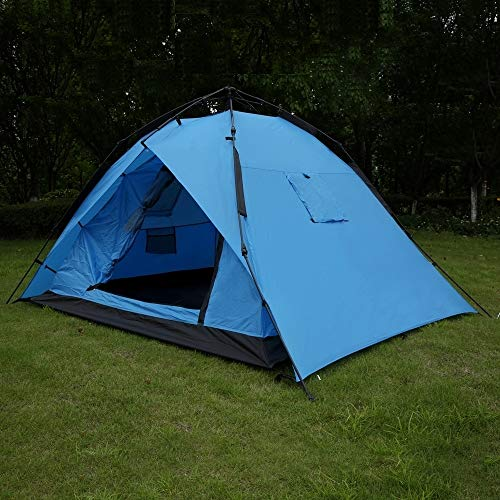 North Gear Camping 2 Man Waterproof Auto-Frame Tent with Canopy