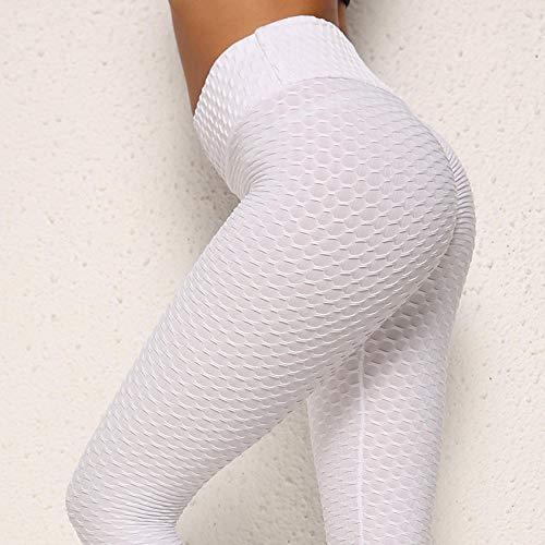 Yoga legging voor dames hoog,Dames yoga broek met hoge taille, ademende joggingbroek-White_L,Harem hippiebroek voor dames