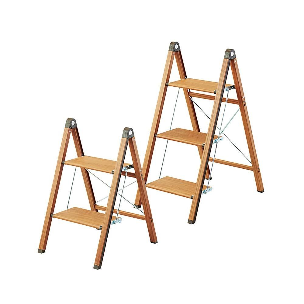 DS taburete Taburete plegable Taburete alto multifuncional Cocina Escalera de dos escalones Escalera creativa de madera maciza Banco de escalera estrecha for el hogar Escalera de espiga plegable de al: Amazon.es: Hogar