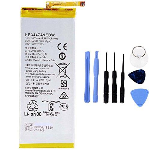Generico Batteria ad Alta capacità 2600mAh Compatibile con Huawei P8 HB3447A9EBW con Tool Kit Incluso