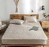CYYyang Protector de colchón de bambú Funda de colchón y Ajustable Una Sola Pieza de Hoja de Cama engrosamiento-20_150 * 200cm