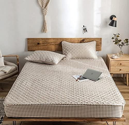 CYYyang Protector de colchón de bambú Funda de colchón y Ajustable Una Sola Pieza de sábana gruesa-20_90 * 190cm