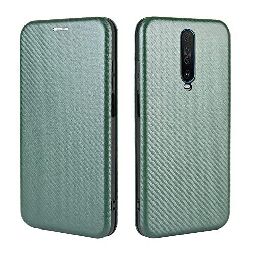 Tapa de la caja de la caja del teléfono Para Xiaomi Redmi K30 Ultra Case, Luxury Carbon Fibra PU y TPU Caso Híbrido Protección completa Funda a prueba de choques Funda para Xiaomi Redmi K30 Ultra