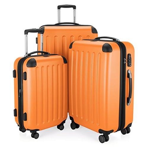 Hauptstadtkoffer 42246366, Trolley da Viaggio, colore Arancione, Set
