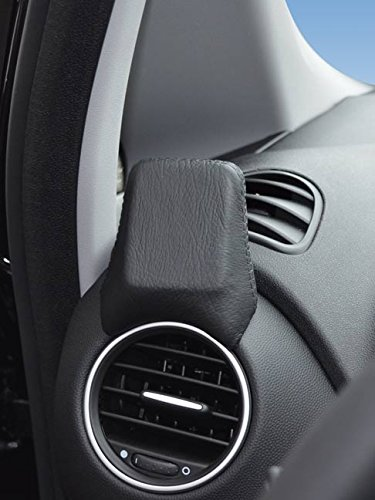 Kuda–Consola de navegación (LHD) para: Fiat Punto Evo 11/2009& Punto a partir de 2012/Mobilia (piel sintética), color negro