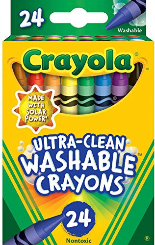 Crayola Washable Crayons, Multi-Colour, 2.61 x 7.11 x 11.53 cm