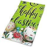 Sainbury Bandeau Happy Vintage De Pâques Mignon Lapin Floral Fleurs Oeufs En Plein Air Écharpe Masque Cou Guêtre Tête Enroulez Bandeau Sportif Chapeaux
