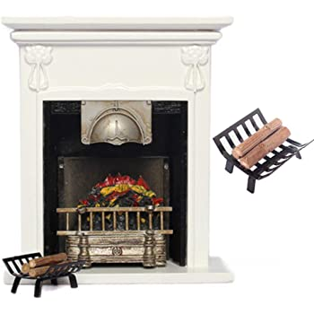1//12 Miniature Furniture Rack W// Firewood Fireplace Living Room For Dollhouse