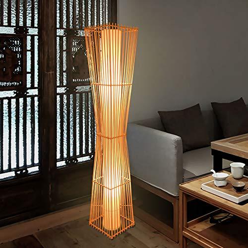 Lampadaire De Style Japonais, Lampe De Lecture De Chambre À Coucher Tatami Zen Salon, Lampe Lampe sur Pied Décorative Antique en Bambou Chinois (Color : A)
