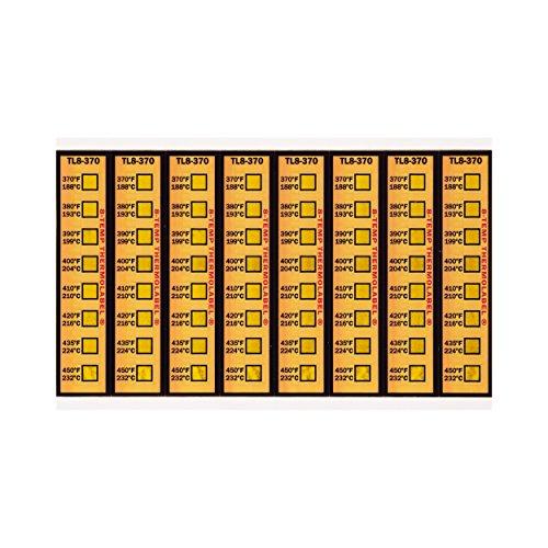 Motorsport Brake Caliper Temperature Indicator Strips 370-450°F Pack of 16 Labels